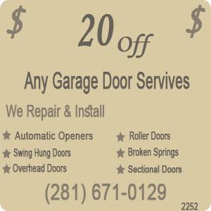 Houston Residential Garage Doors Fix Broken Garage Door